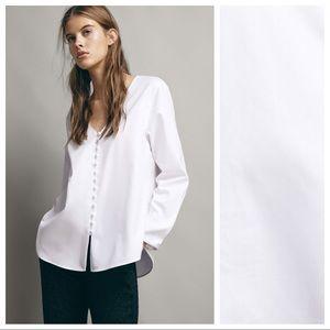 NWT. Massimo Dutti White Shirt. Size 2.